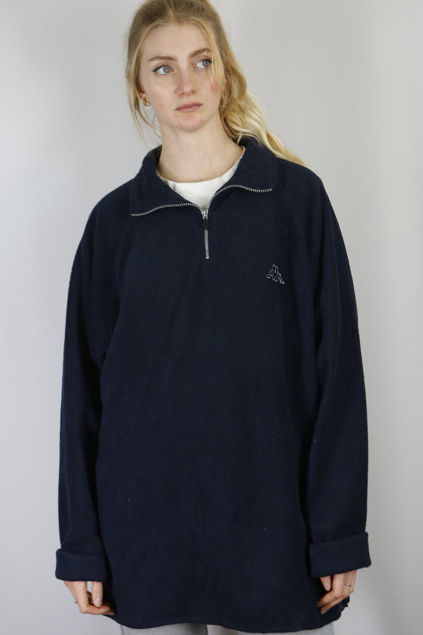 Vintage Kappa 1/4 Zip Fleece In Dark Blue in Size XL