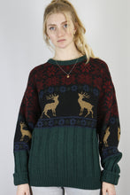 Load image into Gallery viewer, Vintage Knit Sweater in Green in Size M