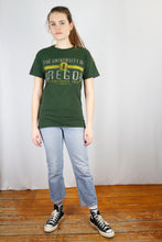 Load image into Gallery viewer, Vintage University T-Shirt in Green in Size S