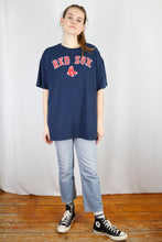 Load image into Gallery viewer, Vintage Red Sox T-Shirt in Blue in Size L/XL