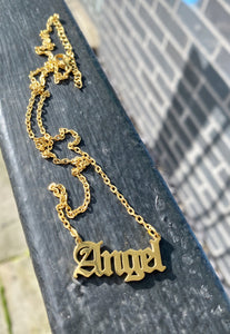 Angel Necklace in Golden Stainless Steel