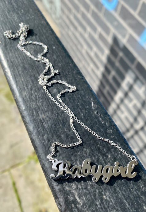 Babygirl Necklace in Silver Stainless Steel