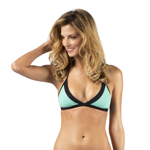 The Sarah Reversable Bikini Top Color 1 Front