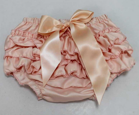 Peach Satin Bloomers