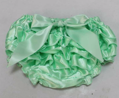 Mint Satin Bloomers