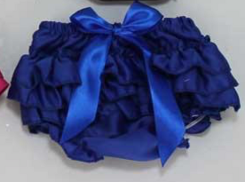 Royal Blue Satin Bloomers
