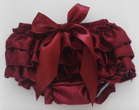 Maroon Satin Bloomers