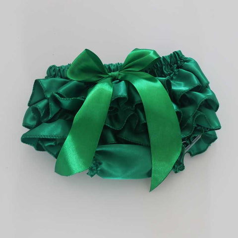 Green Satin Bloomers