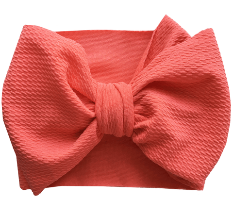 Coral Bow Wrap