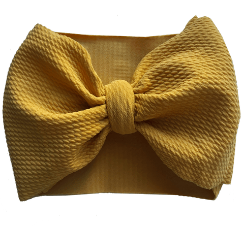 Mustard Bow Wrap