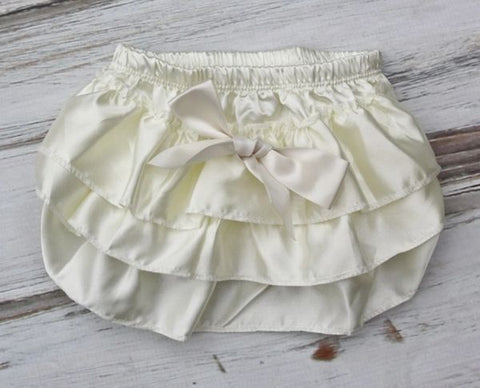 Ivory Satin Bloomers