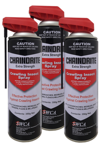 Chaindrite Extra Strength Crawling Spray x 3 (Cockroach, Bedbug, Wasps, Spiders, Ants)