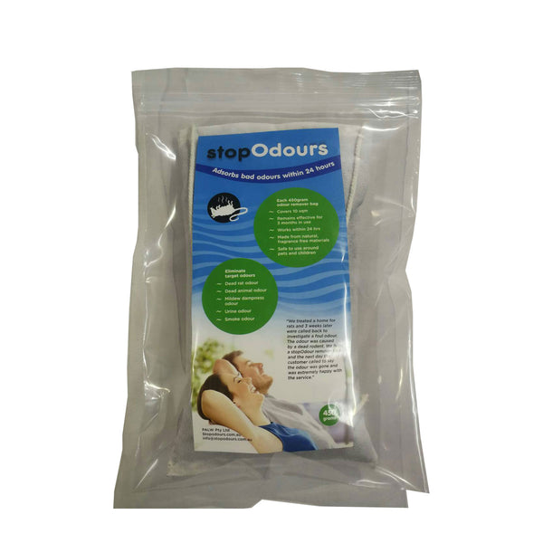 Odour Remover Bags (dead rodents,  dampness,  pet odours,  smoke)