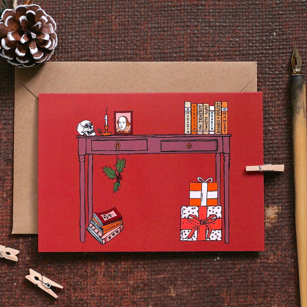 8 Wintery Christmas & New Year's Cards From Small Businesses | Literary Lip Balms