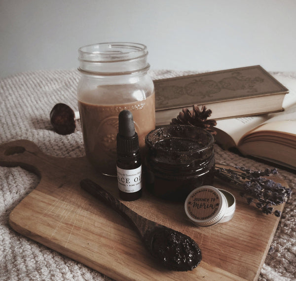 DIY Coffee Face + Body Scrub Recipe | Literary Lip Balms