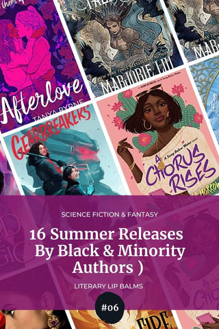 An image of science fiction and fantasy book covers by BIPOC authors