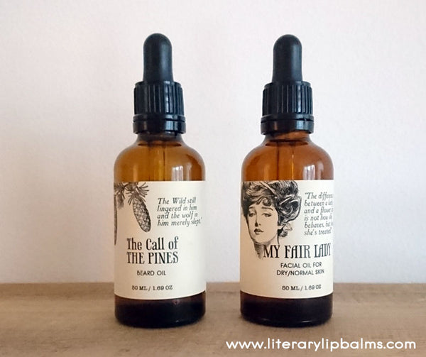 natural face and beard oil - Literary Lip Balms