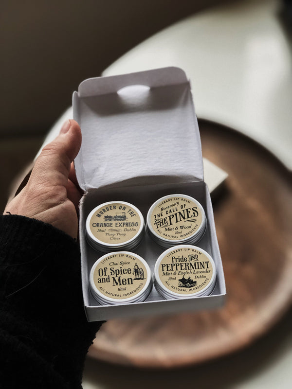 4 x Classic Lip Balm Gift Set - Literary Lip Balms