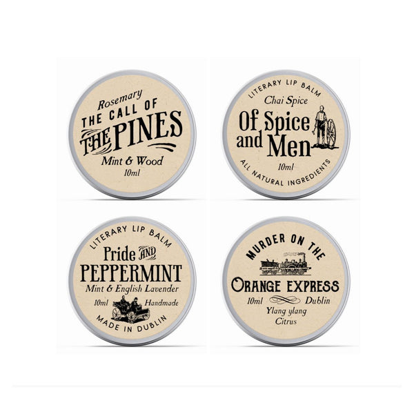4 x Classics Mini Gift Box - Literary Lip Balms