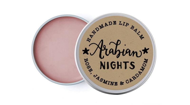 Arabian Nights - Rose, Jasmine & Cardamom - lip balm by Literary Lip Balms