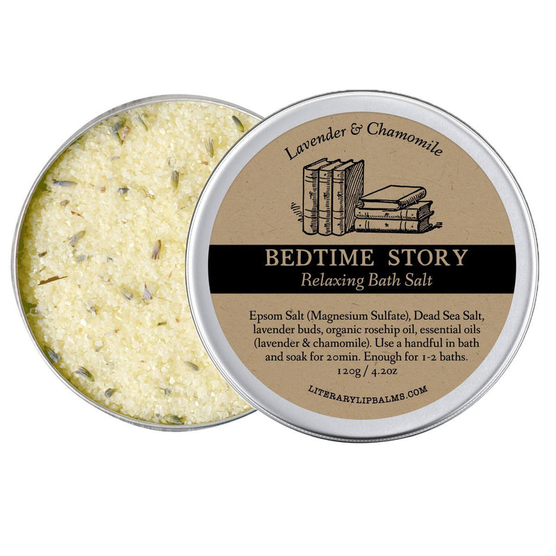 Bedtime Story Bath Salt - bath salt by Literary Lip Balms