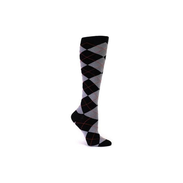 Black Argyle Knee Socks - socks by Literary Lip Balms