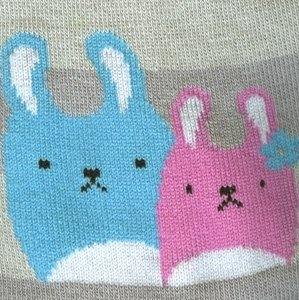 Bunny Friends Crew Socks - socks by Literary Lip Balms
