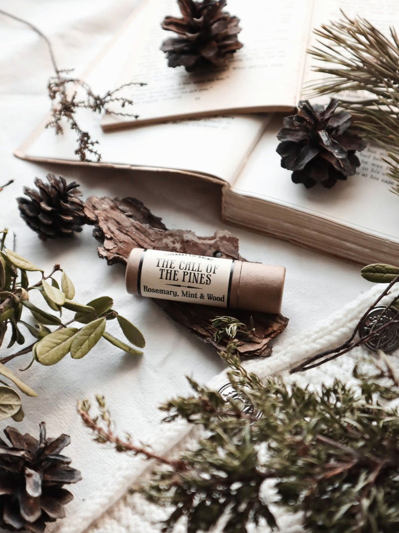 Call of the Pines Eco Lip Balm (Mint & Cedar) - lip balm by Literary Lip Balms