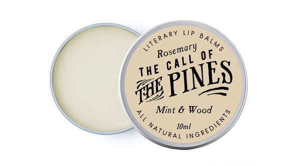 Call of the Pines Lip Balm - Mint & Cedar - lip balm by Literary Lip Balms
