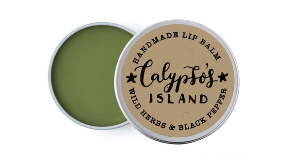 Calypso's Island - Wild Herbs & Black Pepper - lip balm by Literary Lip Balms