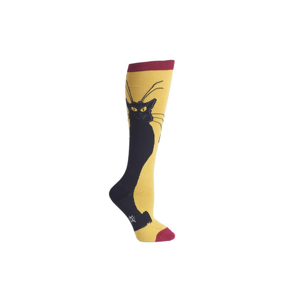 Chat Noir Knee Socks - socks by Literary Lip Balms
