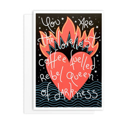 Coffee Lover Greeting Card - greeting card by Literary Lip Balms