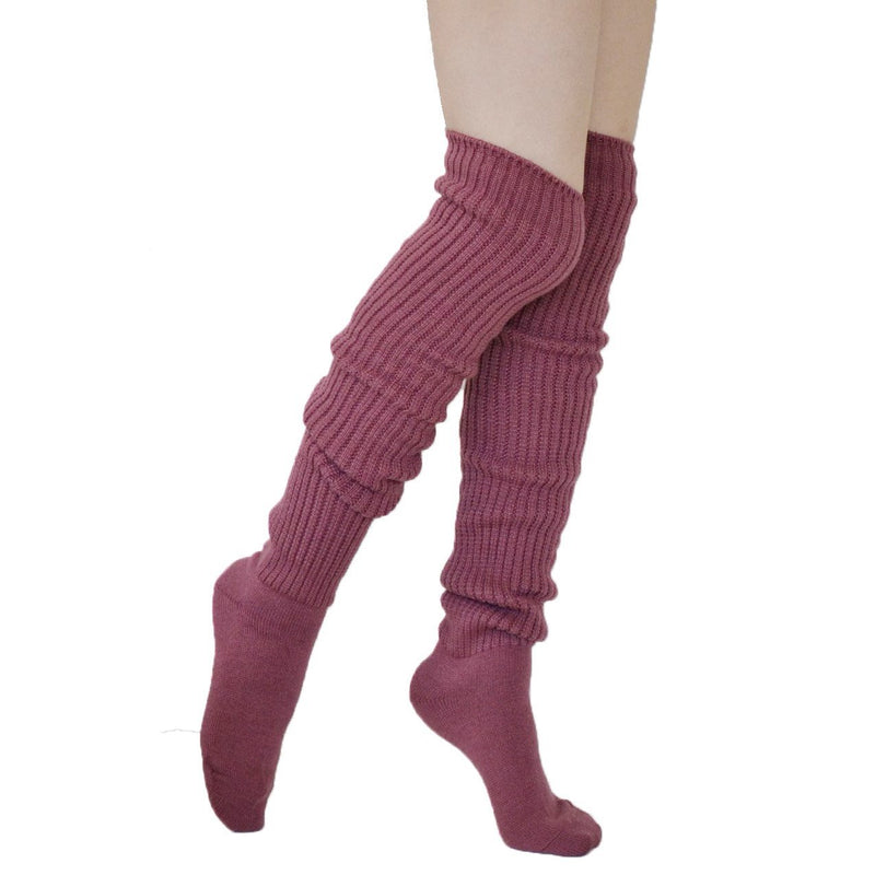 Comfy Over The Knee Socks - Dusky Pink - socks by Literary Lip Balms