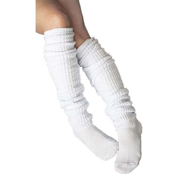 Comfy Over The Knee Socks - White - socks by Literary Lip Balms