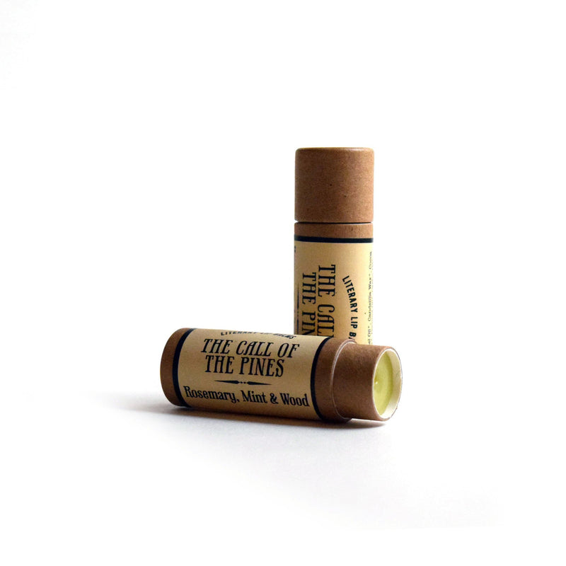 Call of the Pines Lip Balm - Rosemary, Mint & Wood - lip balm by Literary Lip Balms