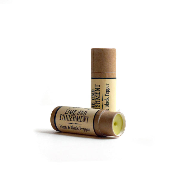 Lime and Punishment Lip Balm - Lime & Black Pepper - lip balm by Literary Lip Balms