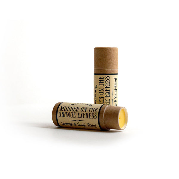 Compostable Lip Balm - Murder on the Orange Express - Literary Lip Balms