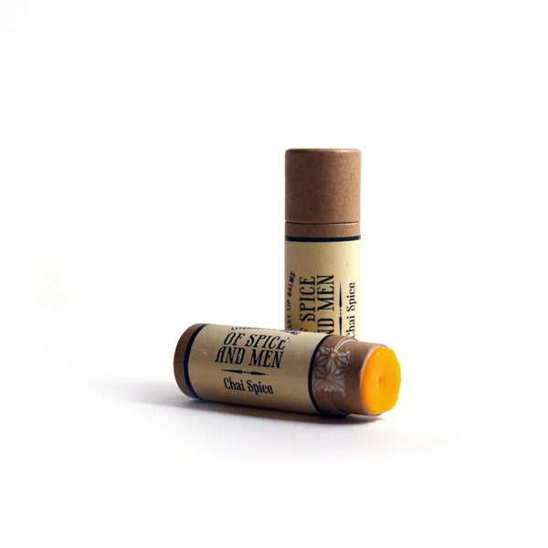 Compostable Lip Balm - Of Spice and Men - Literary Lip Balms