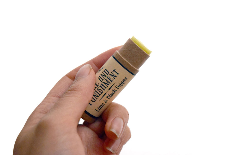 The Grapefruit of Wrath - Grapefruit & Mint - lip balm by Literary Lip Balms