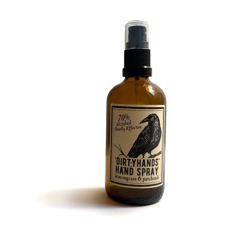 Hand Cleansing Spray - Dirtyhands - hand sanitiser by Literary Lip Balms