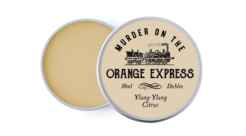 Murder on the Orange Express Lip Balm (Orange & Ylang-Ylang) - lip balm by Literary Lip Balms