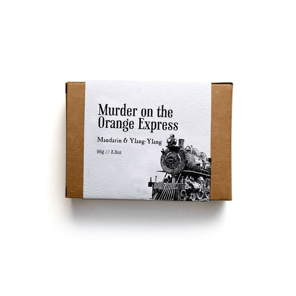 Murder on the Orange Express Soap Bar - Soap by Literary Lip Balms