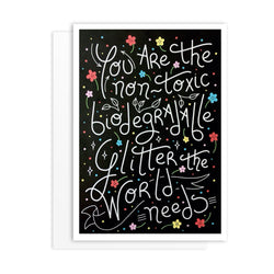 Non-Toxic Glitter Friendship Greeting Card - greeting card by Literary Lip Balms