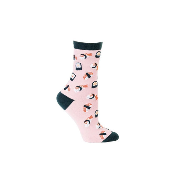 Pink Sushi Crew Socks - socks by Literary Lip Balms