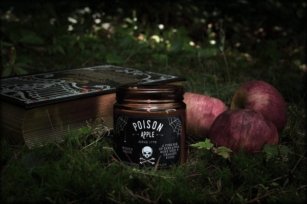 Poison Apple 4oz Soy Candle - Literary Lip Balms