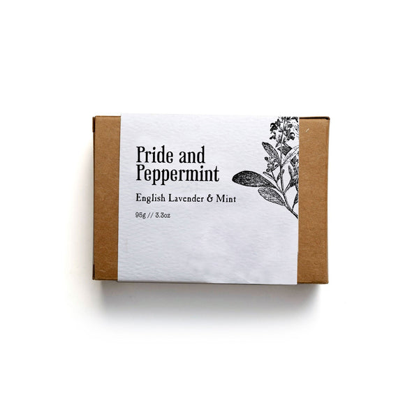 Pride and Peppermint Soap Bar - Soap by Literary Lip Balms
