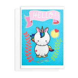 Rainbow Unicorn Friendship Greeting Card - greeting card by Literary Lip Balms