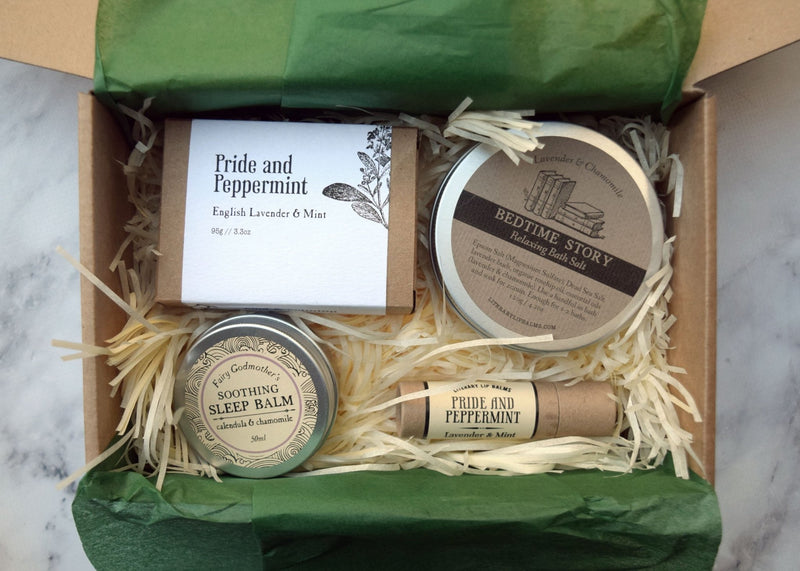 Relaxing Self-Care Gift Box - gift set by Literary Lip Balms