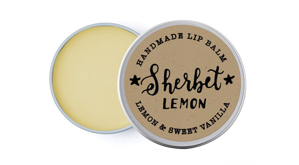 Sherbet Lemon - Vanilla & Lemon - lip balm by Literary Lip Balms