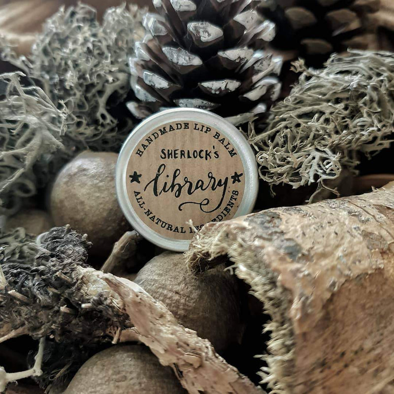 Sherlock's Library - Bergamot, Cedarwood & Vetiver - lip balm by Literary Lip Balms